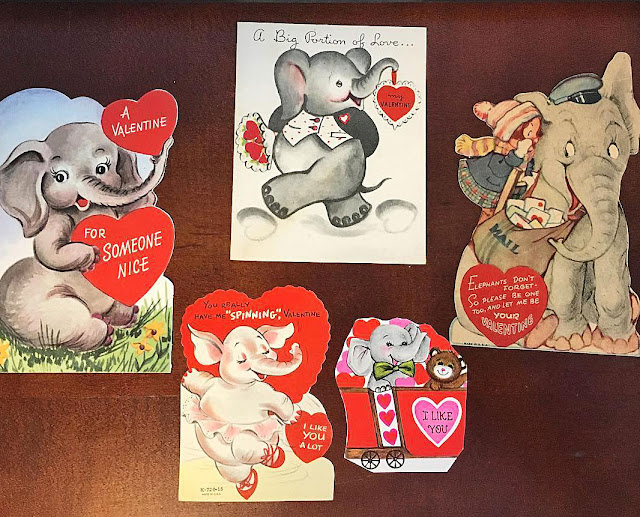 Vintage Elephant Valentines on The Cedar Chest blog