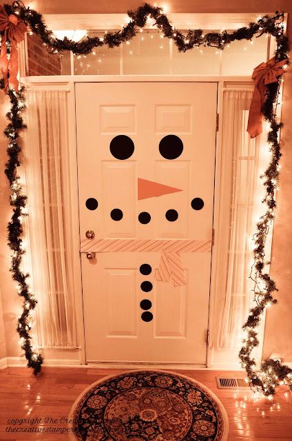 Snowman Door DIY