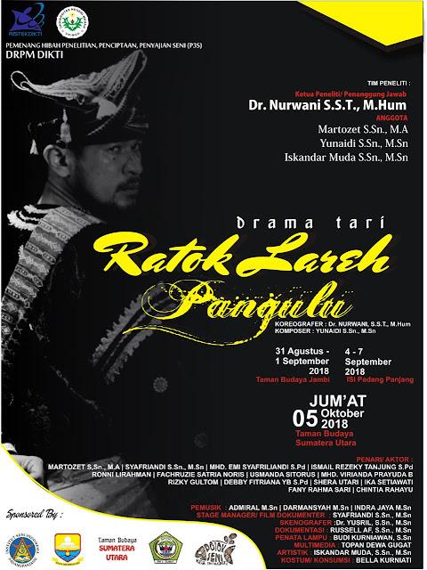 """Drama Tari """"Ratok Lareh Pangulu"""" akan pentas di Tiga Kota"""