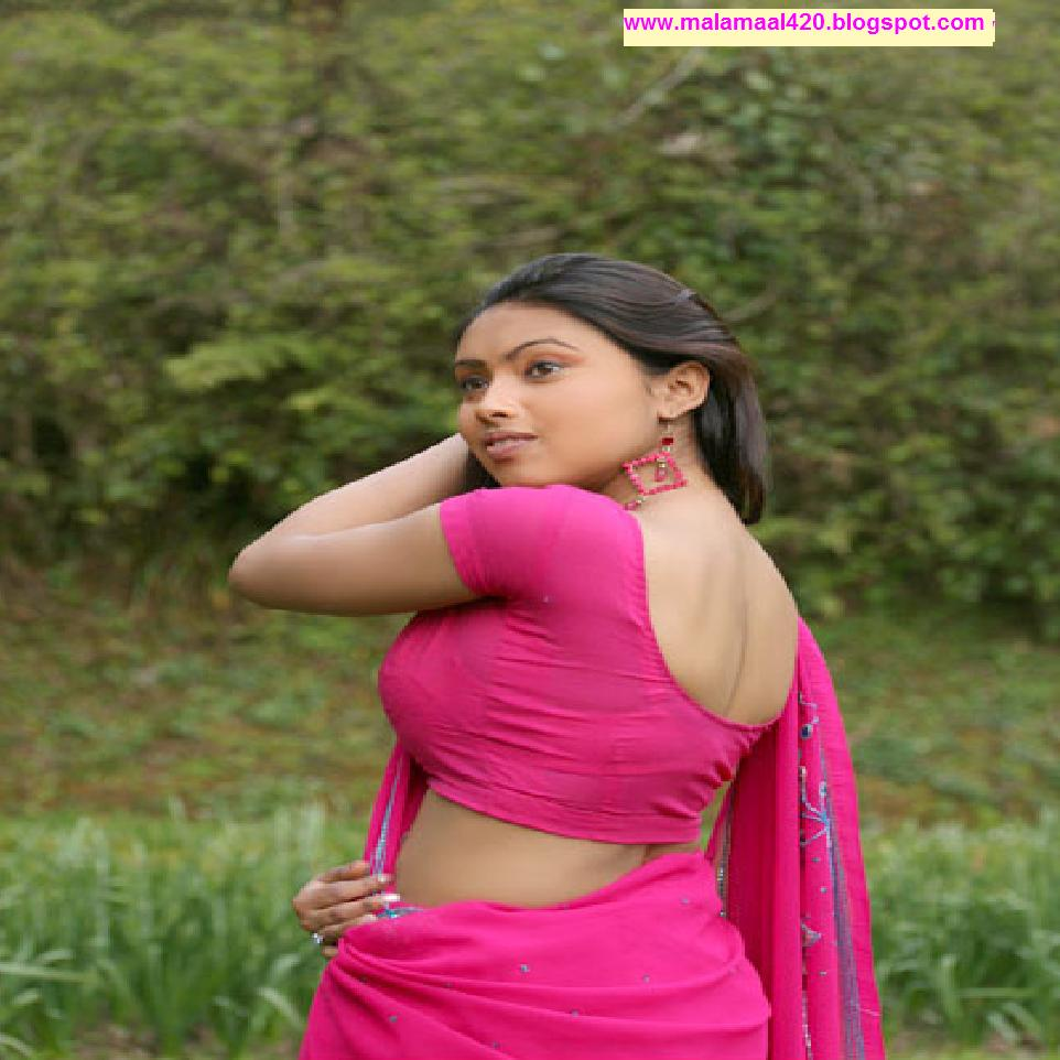 Srijana Mallu Aunty Hot In Pink Blouse Hot Pictures  Hot -9162