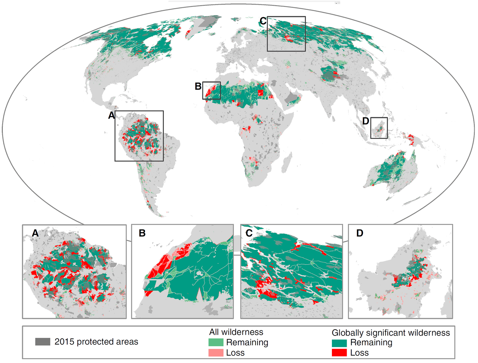 Earth has lost 10 percent of its wilderness since the early 1990s