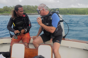 "Our sponsor's equipment in the field: ""Diver's Paradise in Saipan"""