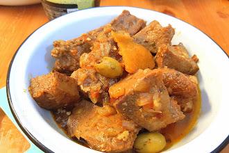 Slow-cooked beef's tongue Moroccan style - Recette de langue de bœuf à la marocaine