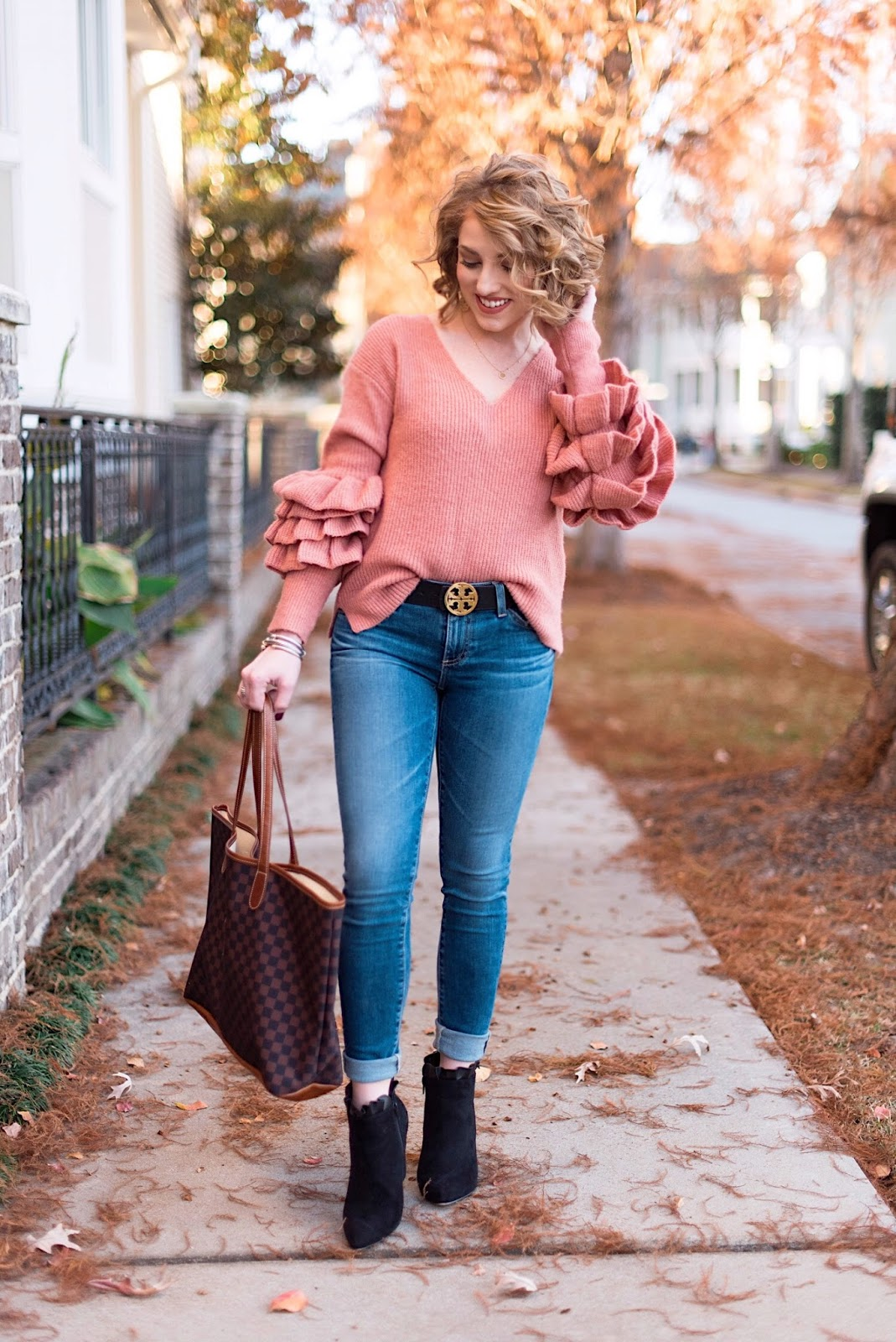 Tiered Ruffle Sleeve Sweater - Something Delightful Blog
