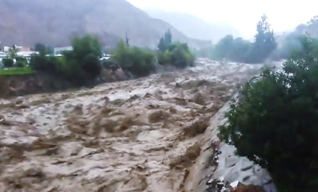 Desborde del río Moquegua por huaicos
