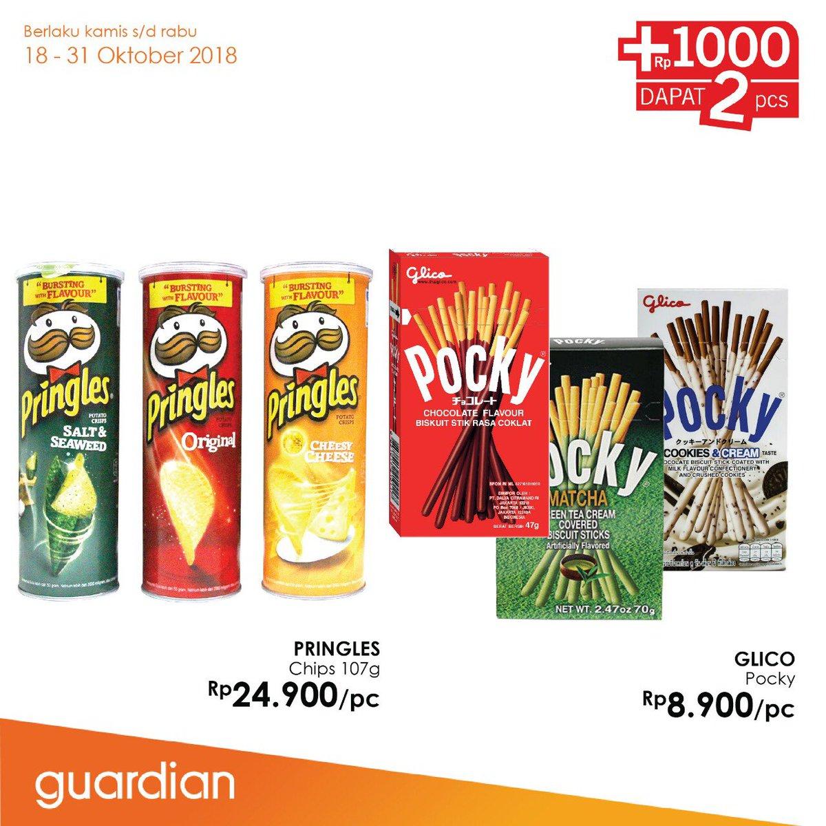 Guardian - Katalog Hanya tambah +1000 bisa dapat 2! (s.d 31 Okt 2018)