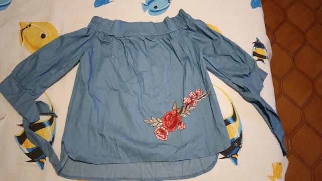 Recebidos Loja Rosegal, blusa jeans, blusa rosegal