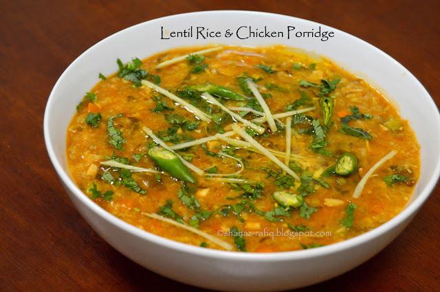 Lentil Rice & Chicken Porridge