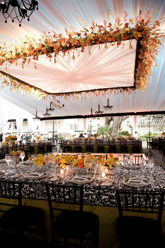 Suspended wedding centerpieces floral chandeliers belle the magazine aloadofball Image collections