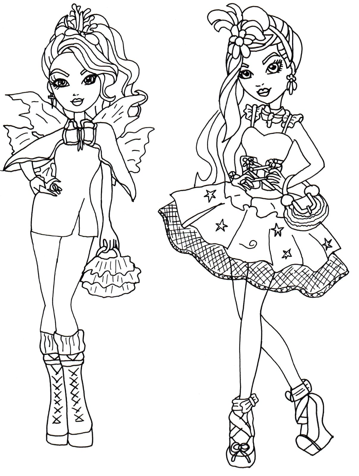 Free Printable Ever After High Coloring Pages: Faybelle