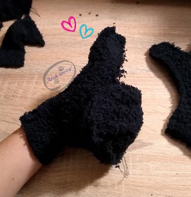 Adzik tworzy - rękawiczki DIY ze ścinek