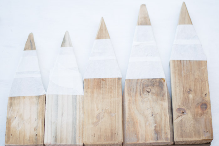 Perchero lápices madera diy
