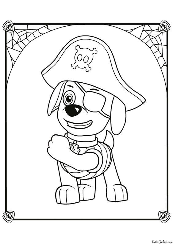 Tranh tô màu chó cứu hộ đóng vai cướp biển