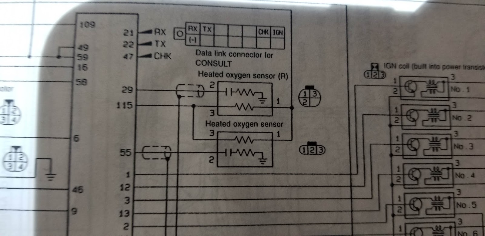 hight resolution of r33 r34 oxygen sensor wiring with pin out the flat plug wiring is the same the square plug wiring is not