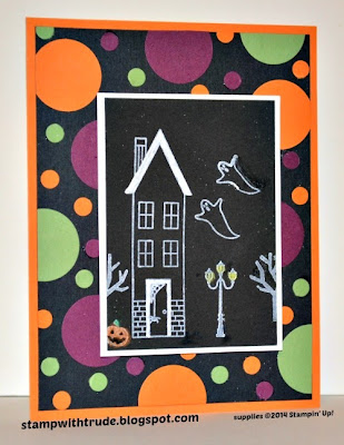 Stampin' Up! Holiday Home Halloween card by Trude Thoman stampwithtrude.blogspot.com