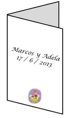 portada de tarjeta individual boda