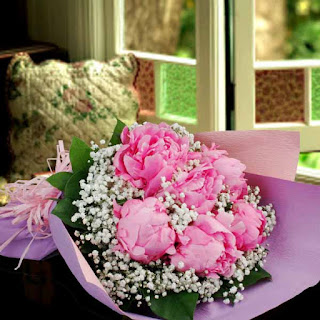 Beautiful bouquet of peony delivered Saigon