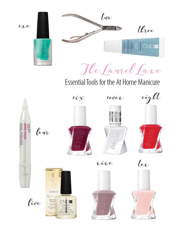 tools for an at home manicure
