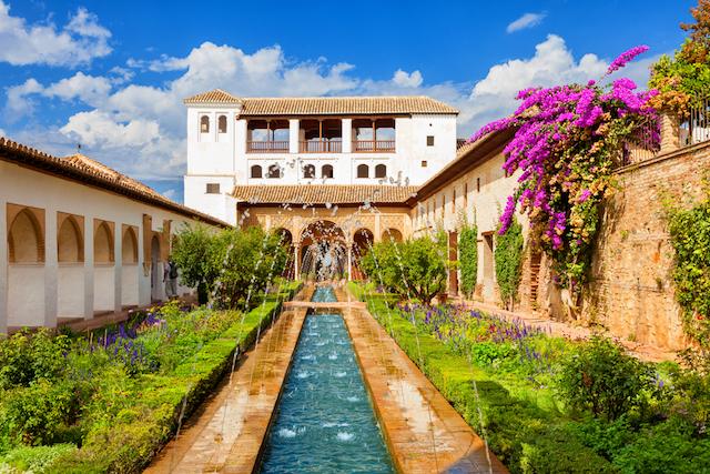 Jardins da Alhambra em Granada