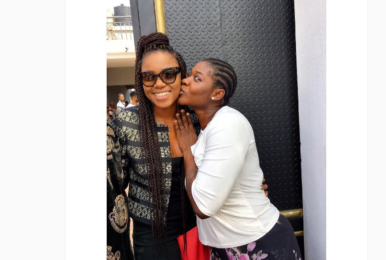 Aww! This cute photo of Mercy Johnson and Yvonne Nelson