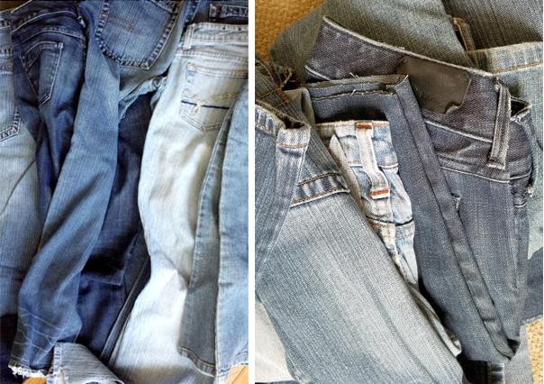 dark and light jeans