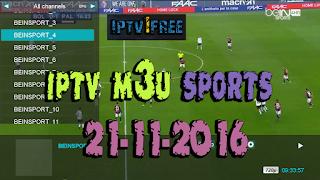 iptv m3u sports 21-11-2016