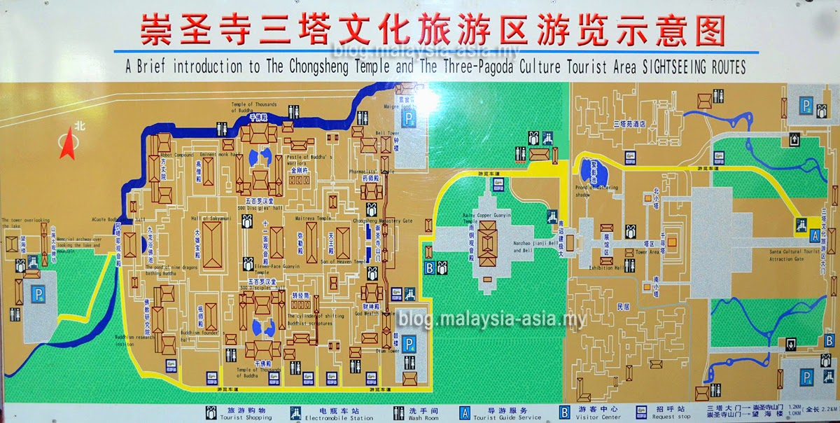 Chongshang Temple Information Map