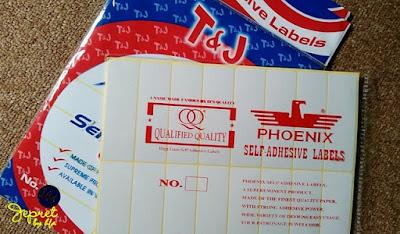 stiker label merk T&J dan Phoenix