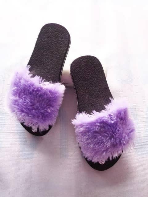 Sandal cantik Slop Bulu TG GSJ - Murah & Trendi