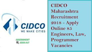 CIDCO Maharashtra Recruitment 2018