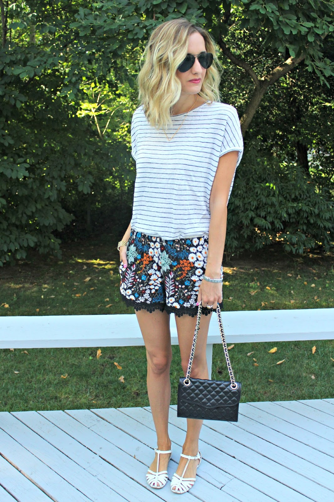 harmony & havoc printed shorts