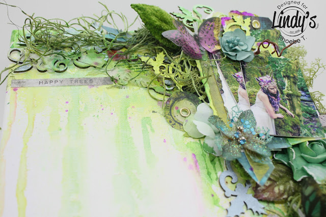 Mixed Media Spring Canvas happy tree by Phoebe Tonosaki