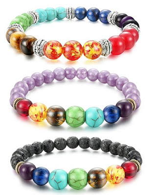 Fibo Steel Lava Rock Bracelets $8 (reg $36) - 3 piece set