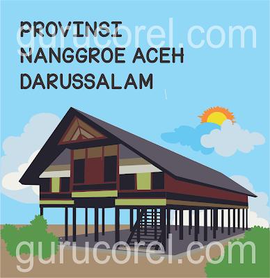 Rumah Adat Aceh Kartun
