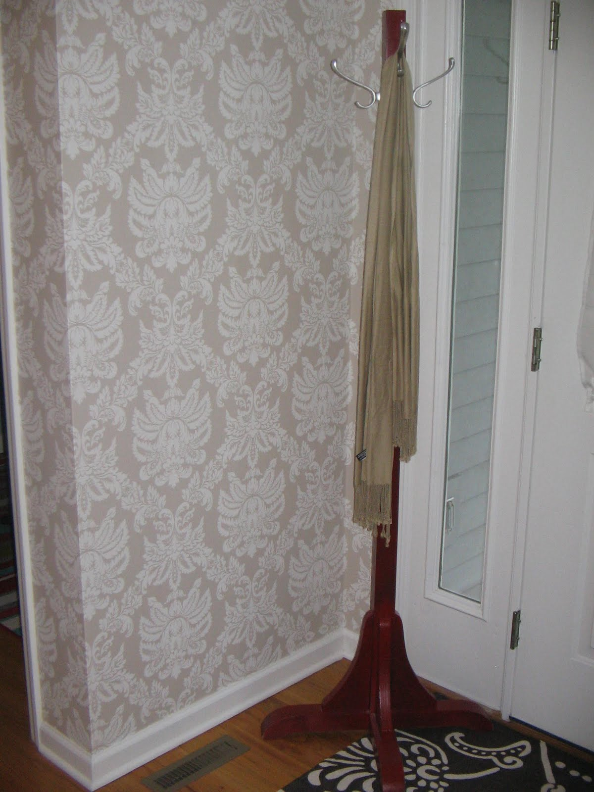 The Foyer Wallpaper Is Up Before And Afters Revealed