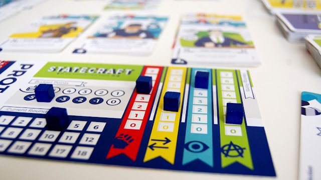 Statecraft Kickstarter board game player board