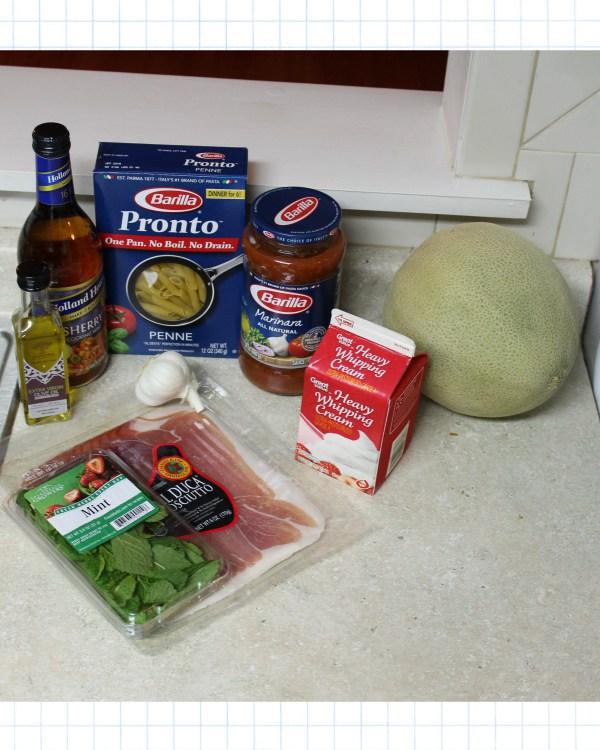 Prosciutto and Melon Penne Pasta Recipe