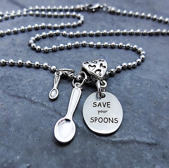Save your spoons necklace - Spoonie Gift Guide
