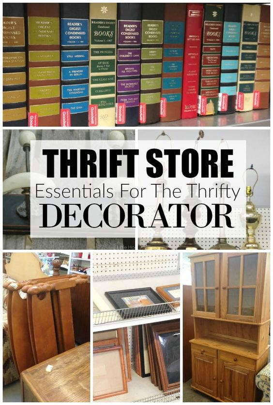 Thrift store essentials for the thrifty decorator