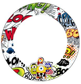 Toppers o Etiquetas para Imprimir Gratis de Minions Super Héroes.