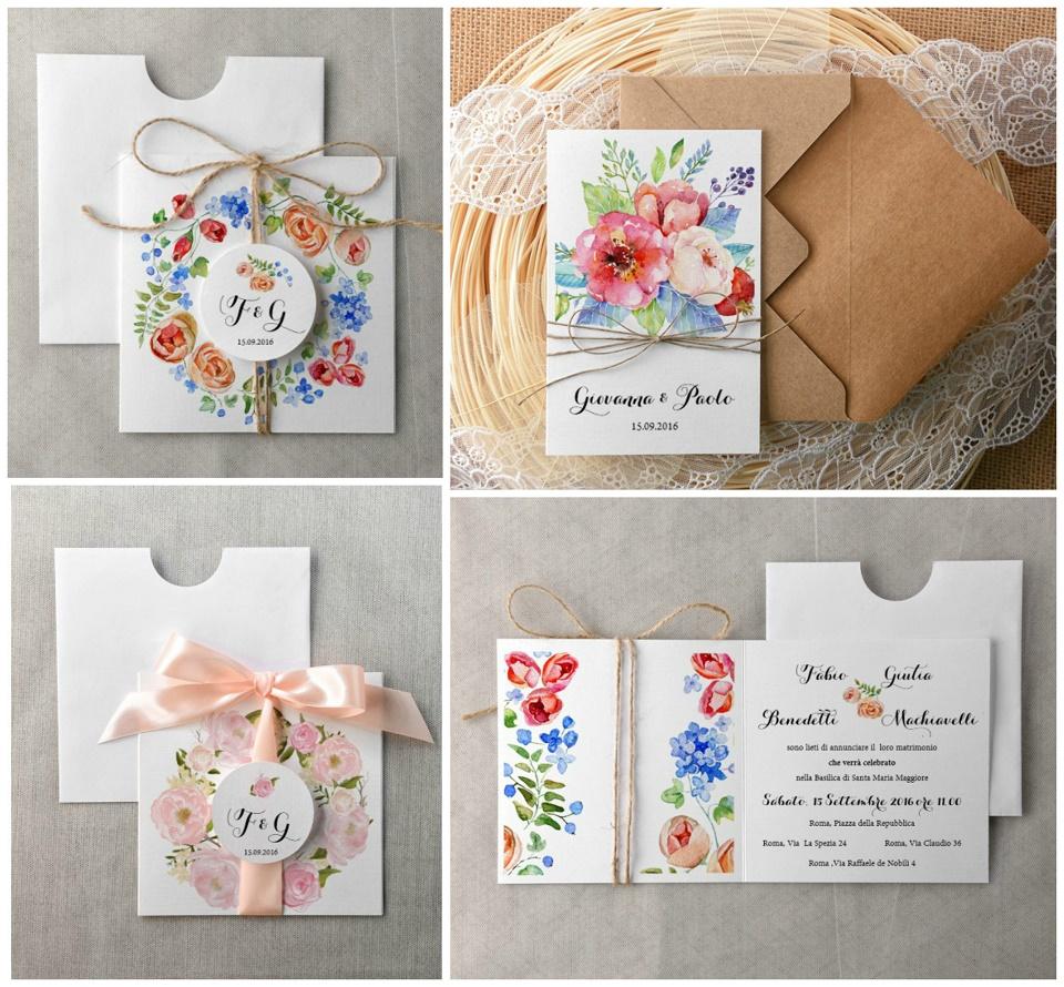 Molto Matrimonio Ecologico: Partecipazioni a fiori ecologiche e naturali QO92