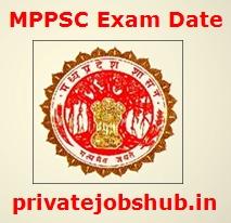 MPPSC Exam Date
