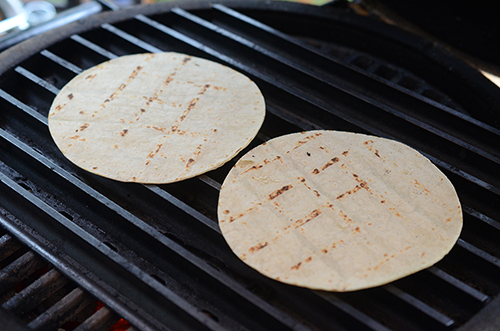 How to grill tortillas on a charcoal grill