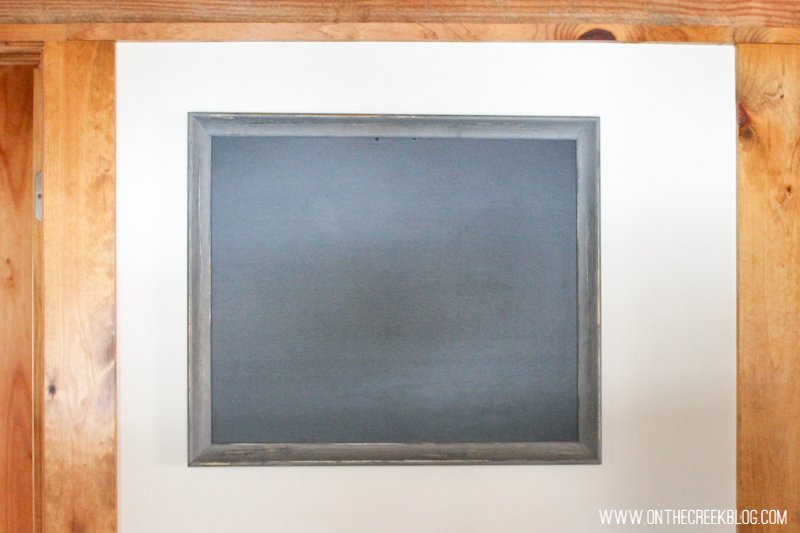 DIY chalkboard from an old picture frame!