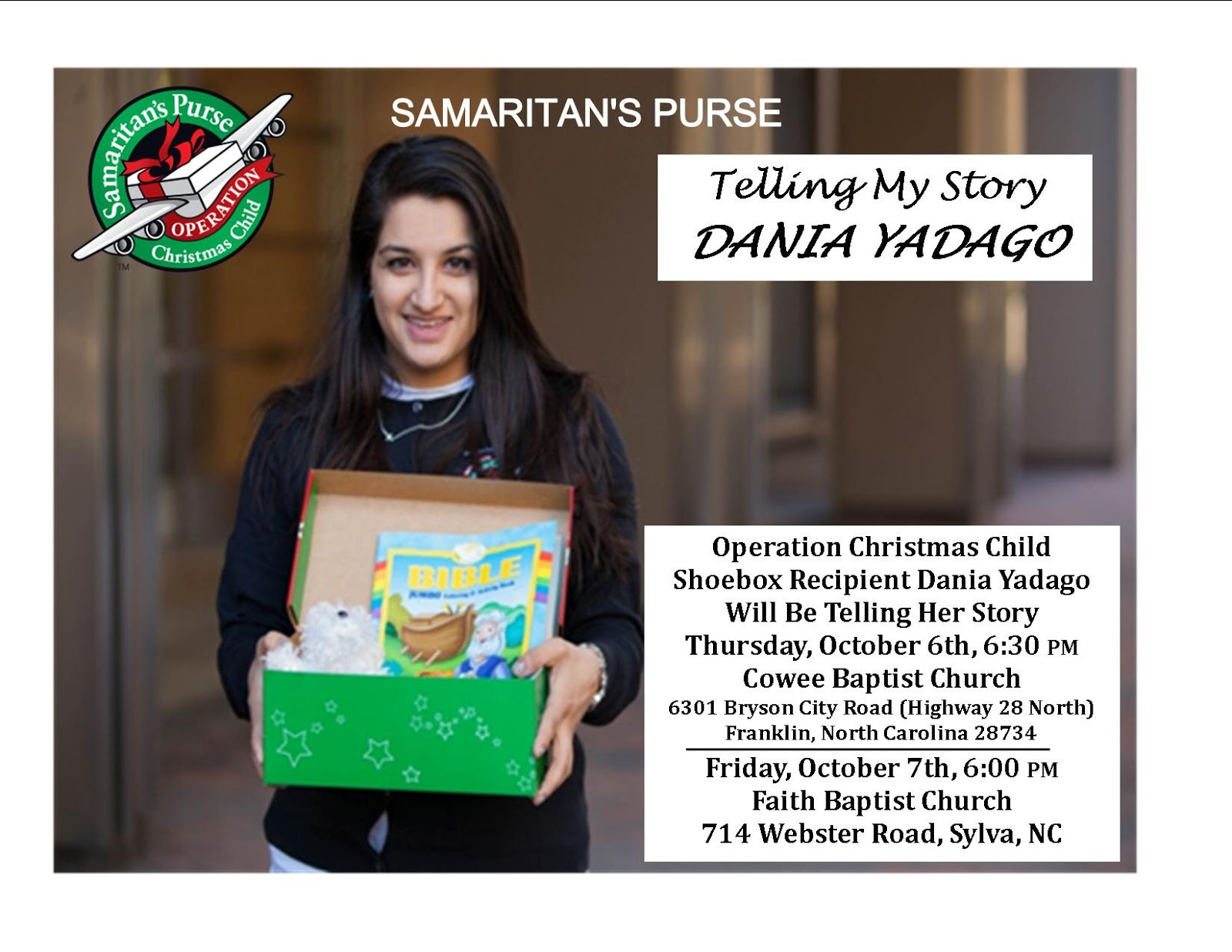 Operation Christmas Child Shoebox Recipient Dania Yadago Will Be ...