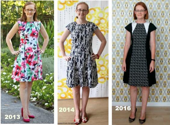 Vogue 2783 panelled dress www.loweryourpresserfoot.blogspot.com