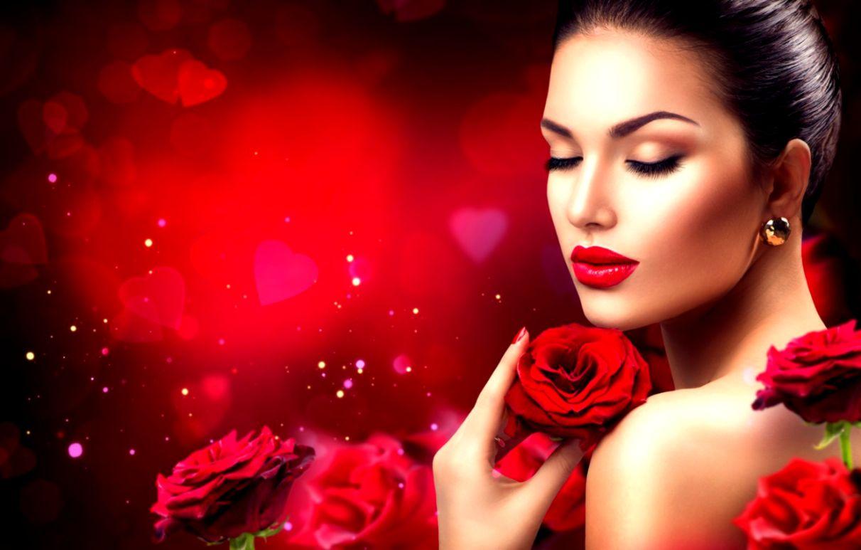 Girl Model Makeup Look Roses Flowers Photography Wallpaper
