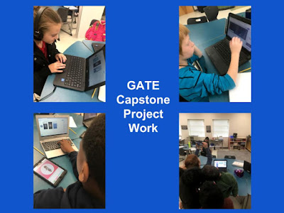graphic of students using ipads and chromebooks