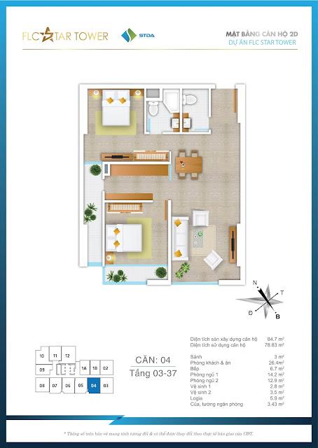 Thiết kế căn hộ 04 - FLC Star Tower