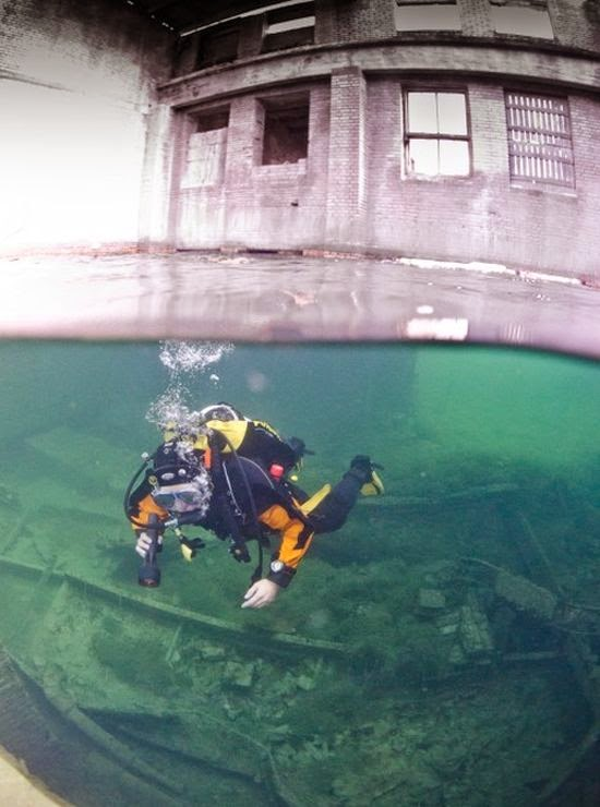 Abandoned Underwater Prison, Estonia